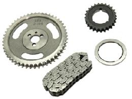 Manley Race Roller Timing Chain Set; BB Chevy, Torrington Thrust Bearing, True Double Roller Chain